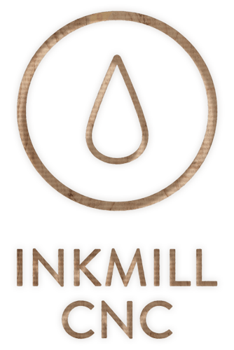 Inkmill Logo CNC Routing on Birch Plywood