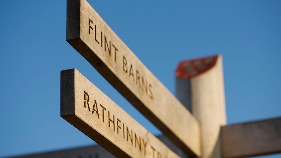 Oak wayfinding signage