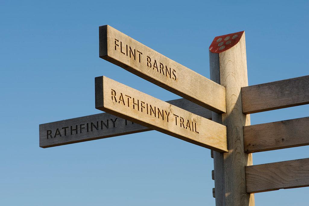 Rathfinny Wine Estate Oak Fingerpost Signage